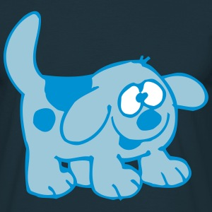 Cute Smiling Cute Dog by Cheerful Madness!! T-Shirts - Men's T-Shirt