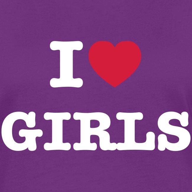 Lesben T-Shirt Shop: I ♥ Girls
