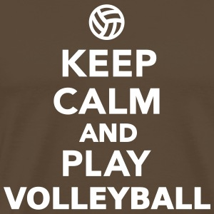 Keep calm and play Volleyball T-Shirts - Männer Premium T-Shirt