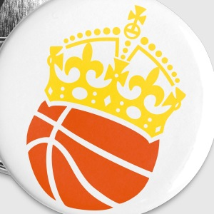 Basketball Krone Crown Couronne Buttons & Anstecker - Buttons klein 25 mm