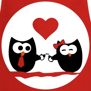 Valentine's Day Owls  Aprons - Cooking Apron
