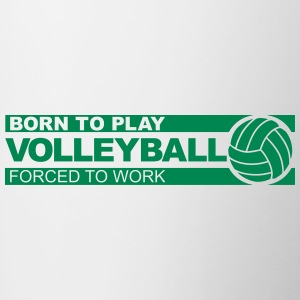 born to play volleyball Bouteilles et tasses - Tasse bicolore