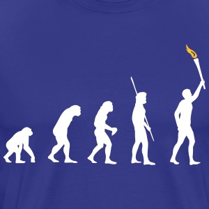 Evolutie Torch  T-shirts - Mannen Premium T-shirt