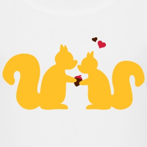 squirrels in love couple eekhoorns in liefde paar Shirts - Kinderen Premium T-shirt