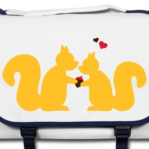 squirrels in love couple Bags & backpacks - Shoulder Bag