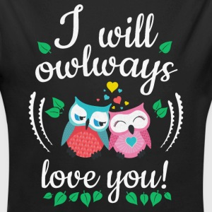 I will owlways love you Eulen Pullover & Hoodies - Baby Bio-Langarm-Body