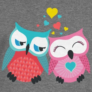 owls in love  Hoodies & Sweatshirts - Women's Boat Neck Long Sleeve Top