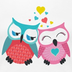owls in love  T-Shirts