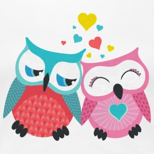 owls in love  T-Shirts - Women's Premium T-Shirt