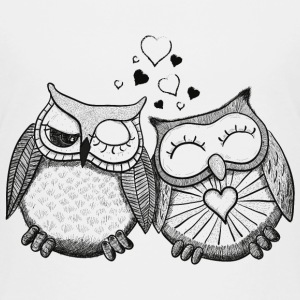 owls in love  hiboux amoureux  Tee shirts - T-shirt Premium Enfant