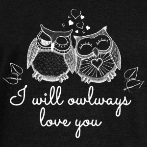 i will owlways love you owls sarà owlways amore voi gufi Felpe - Felpa con scollo a barca da donna, marca Bella