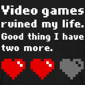 Video games ruined my life (dark) T-shirts - Herre-T-shirt
