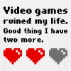 Video games ruined my life T-shirts - T-shirt herr