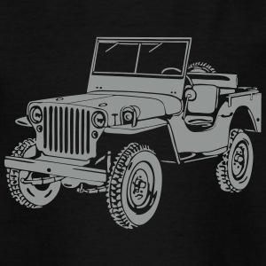 Jeep Willys Overland Offroad 4x4 T-Shirt Shirts - Teenage T-shirt