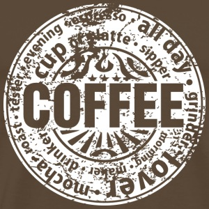 Coffee lover (worn-out) Camisetas - Camiseta premium hombre