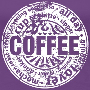 Coffee lover (worn-out) Tee shirts - T-shirt Premium Femme