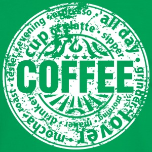 Coffee lover (worn-out) T-shirts - Kontrast-T-shirt herr