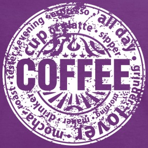 Coffee lover (worn-out) T-shirts - Vrouwen contrastshirt