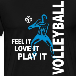 Volleyball - feel it love it play it T-Shirts - Männer Premium T-Shirt