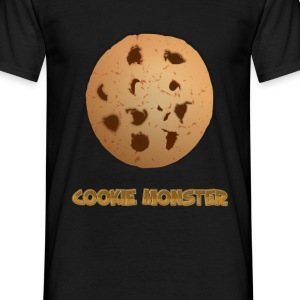 Cookie Monster T-Shirt Black - Men's T-Shirt
