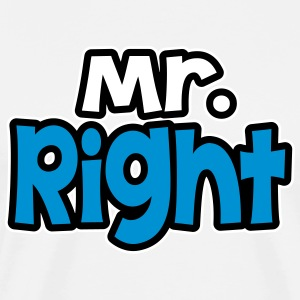 Mr. Rght T-skjorter - Premium T-skjorte for menn