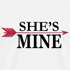 She's mine - Partnershirt T-Shirts - Männer Premium T-Shirt