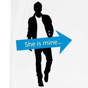 She is mine - partner shirt T-Shirts - Männer Premium T-Shirt