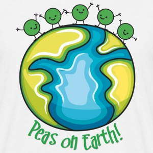 Peas on Earth! T-shirts - Herre-T-shirt