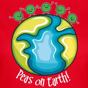 Peas on Earth! (dark) Camisetas - Camiseta mujer