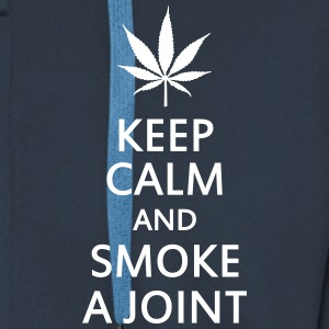 keep calm and smoke a joint Hoodies & Sweatshirts - Men's Premium Hooded Jacket