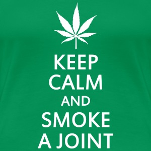 keep calm and smoke a joint T-Shirts - Women's Premium T-Shirt