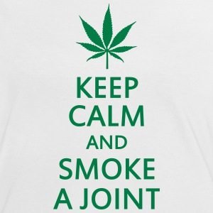 keep calm and smoke a joint T-Shirts - Women's Ringer T-Shirt