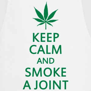 keep calm and smoke a joint  Aprons - Cooking Apron