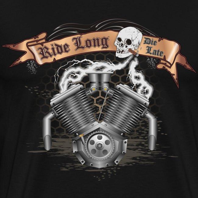 Biker T-shirt mit V2 Motor