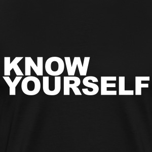Know yourself T-shirts - Mannen Premium T-shirt