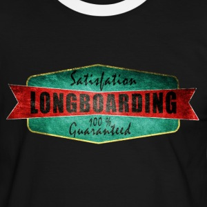 Longboarding satisfaction guaranteed  Tee shirts - T-shirt contraste Homme