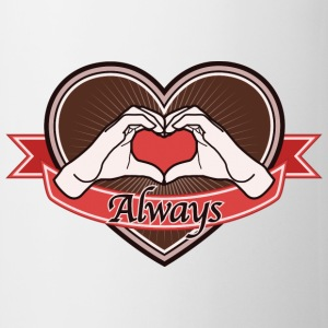 Hand Heart (Brown) Always - Tasse