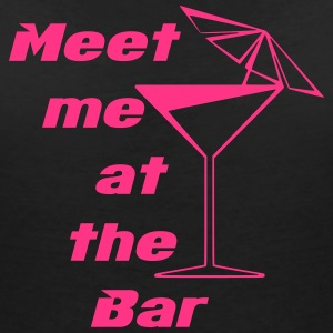 Meet me at the Bar T-Shirts - Frauen T-Shirt mit V-Ausschnitt