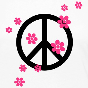 Peace Flowers Love Freedom Symbol Summer Hippie Long Sleeve Shirts - Women's Premium Longsleeve Shirt