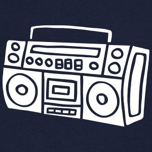 Ghettoblaster Radio Stereo Sound Bass Music Musik T-Shirts - Men's V-Neck T-Shirt