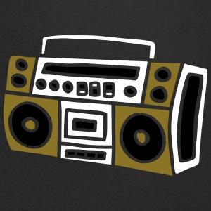 Ghettoblaster Radio Stereo Sound Bass Music Musik Tee shirts - T-shirt Homme col V