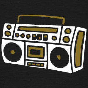 Ghettoblaster Radio Stereo Sound Bass Music Musik T-shirts - Mannen T-shirt