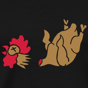 Hahn Cock Hähnchen Chicken Wings Broiler Cockfight T-shirts - Herre premium T-shirt