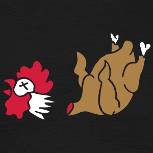 Hahn Cock Hähnchen Chicken Wings Broiler Cockfight T-shirts - Herre-T-shirt