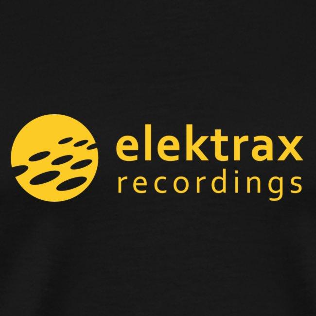 Elektrax Recordings label t-shirt. Yellow Logo