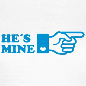 Finger He is mine! boyriend like hands gift heart  - Frauen T-Shirt