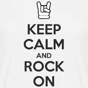 Keep Calm and Rock On T-shirts - Herre-T-shirt