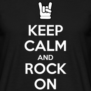 Keep Calm and Rock On (dark) T-shirts - Herre-T-shirt