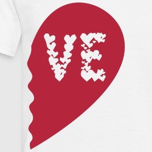 Valentine Heart Love Wedding Marriage half boy T-shirts - Herre-T-shirt