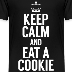 Keep Calm and eat a cookie T-Shirts - Kinder Premium T-Shirt